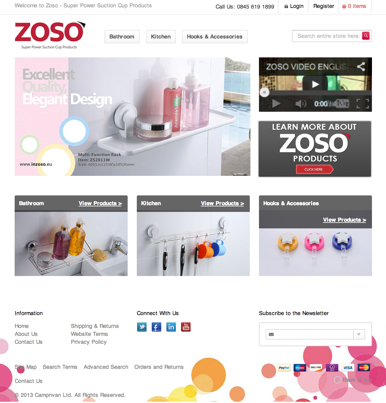 Zoso Super Power Suction Products